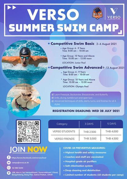 VERSO Competitive Swim Camp