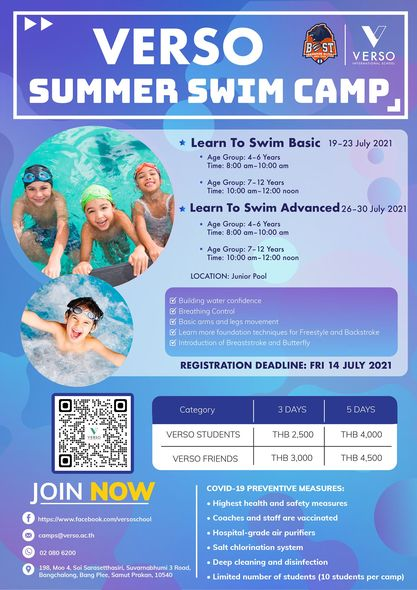 VERSO Learn to Swim Camps